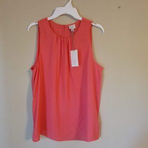 Sleeveless Shell Blouse - A New Day Red Size L